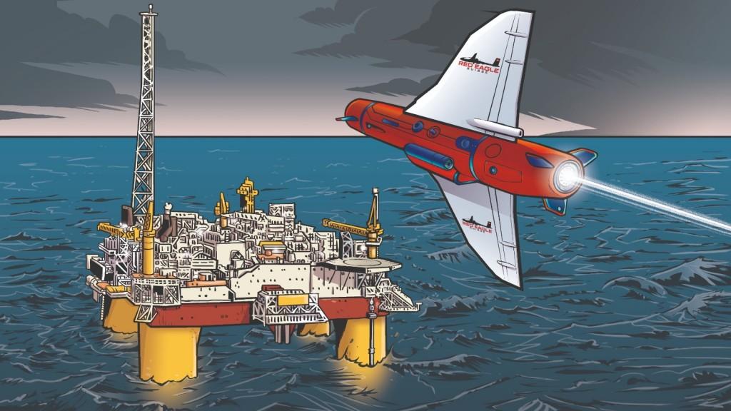 Il TRITON di Red Eagle Suisse vuole essere il perfetto drone sommergibile per proteggere le piattaforme petrolifere e le strutture portuali (Immagine: Red Eagle Suisse)